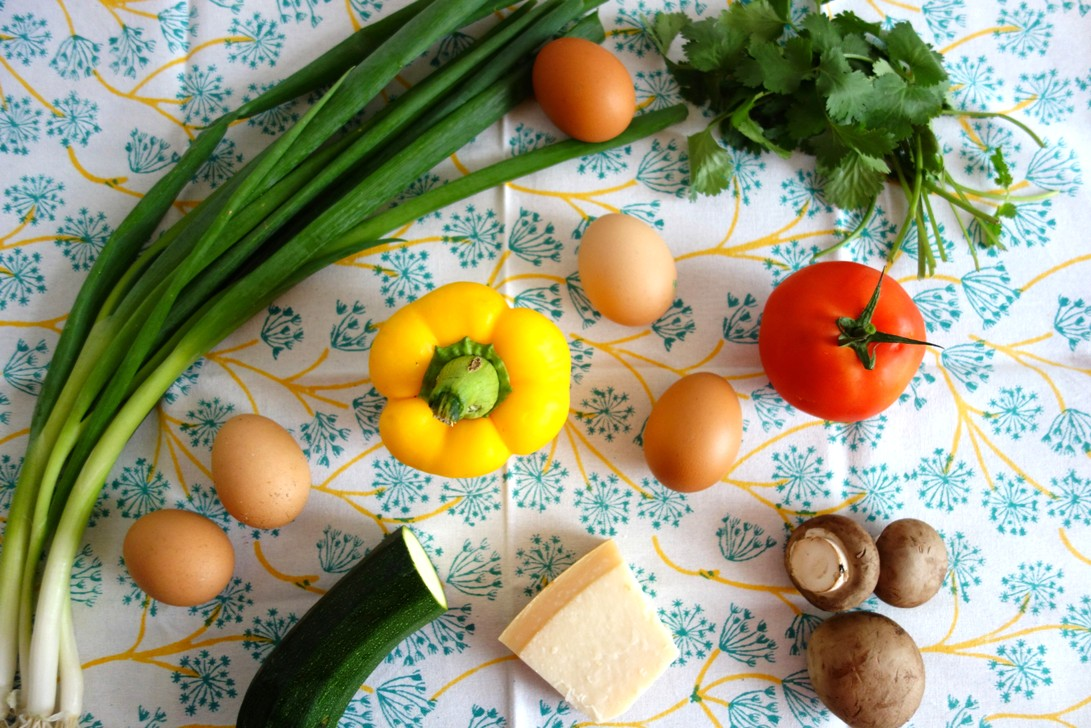 Ingredients for Rainbow Breakfast