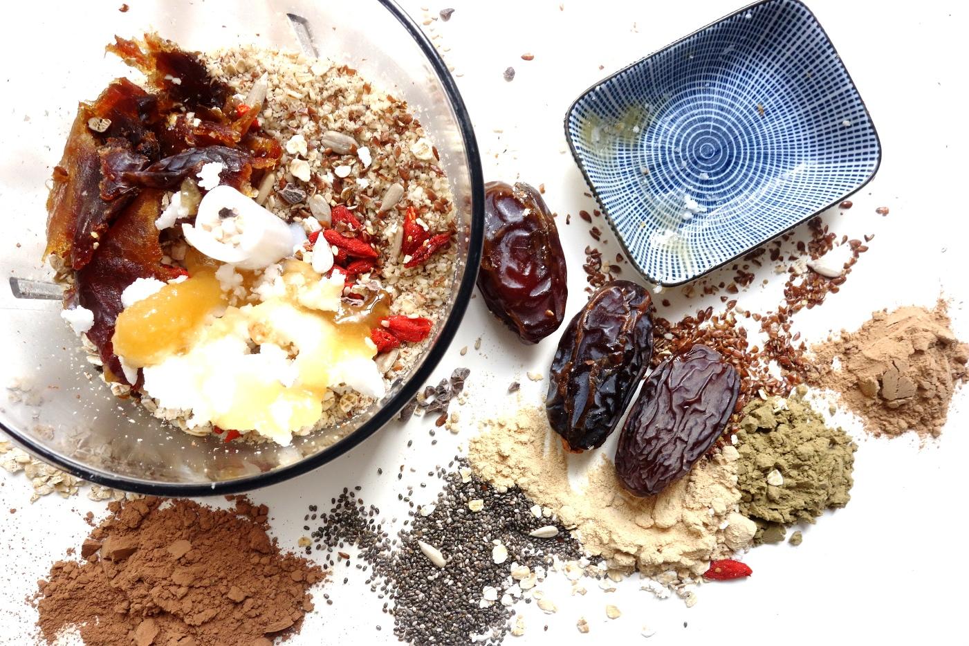 Preparing Cacao Protein Balls