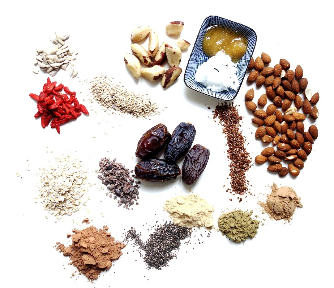 Ingredients for Cacao Protein Balls