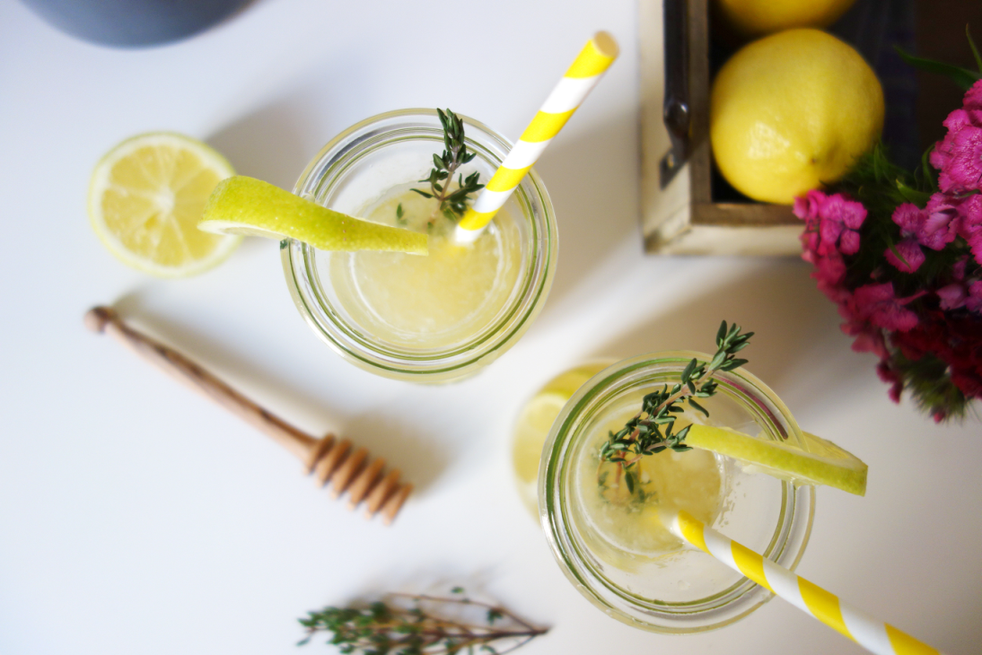 Thyme Lemonade from Top
