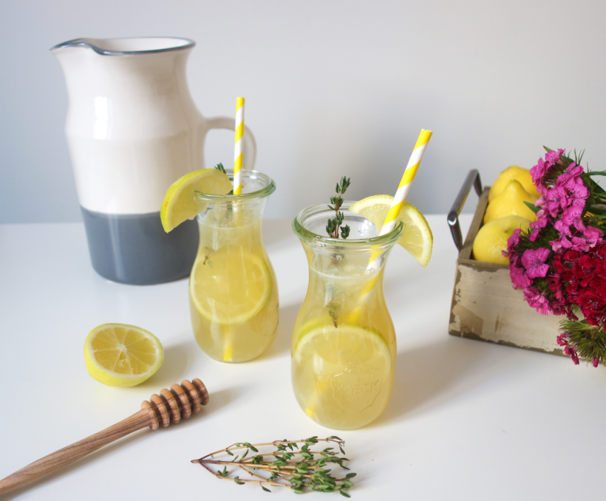 Thyme Lemonade from angle