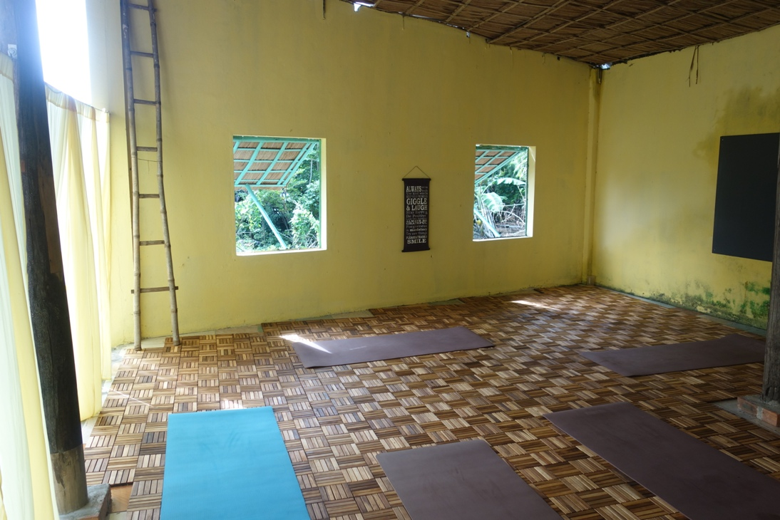 Yoga room at Nomad Yoga Hoi An