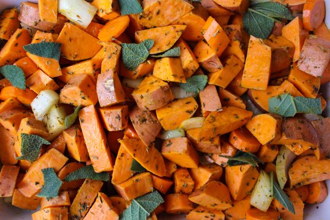 Seasoned sweet potatoes